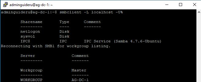 Linux Samba4 AD-DC on Ubuntu 18.04 - Settings - Part 2 - General Domain Controller Catalogs