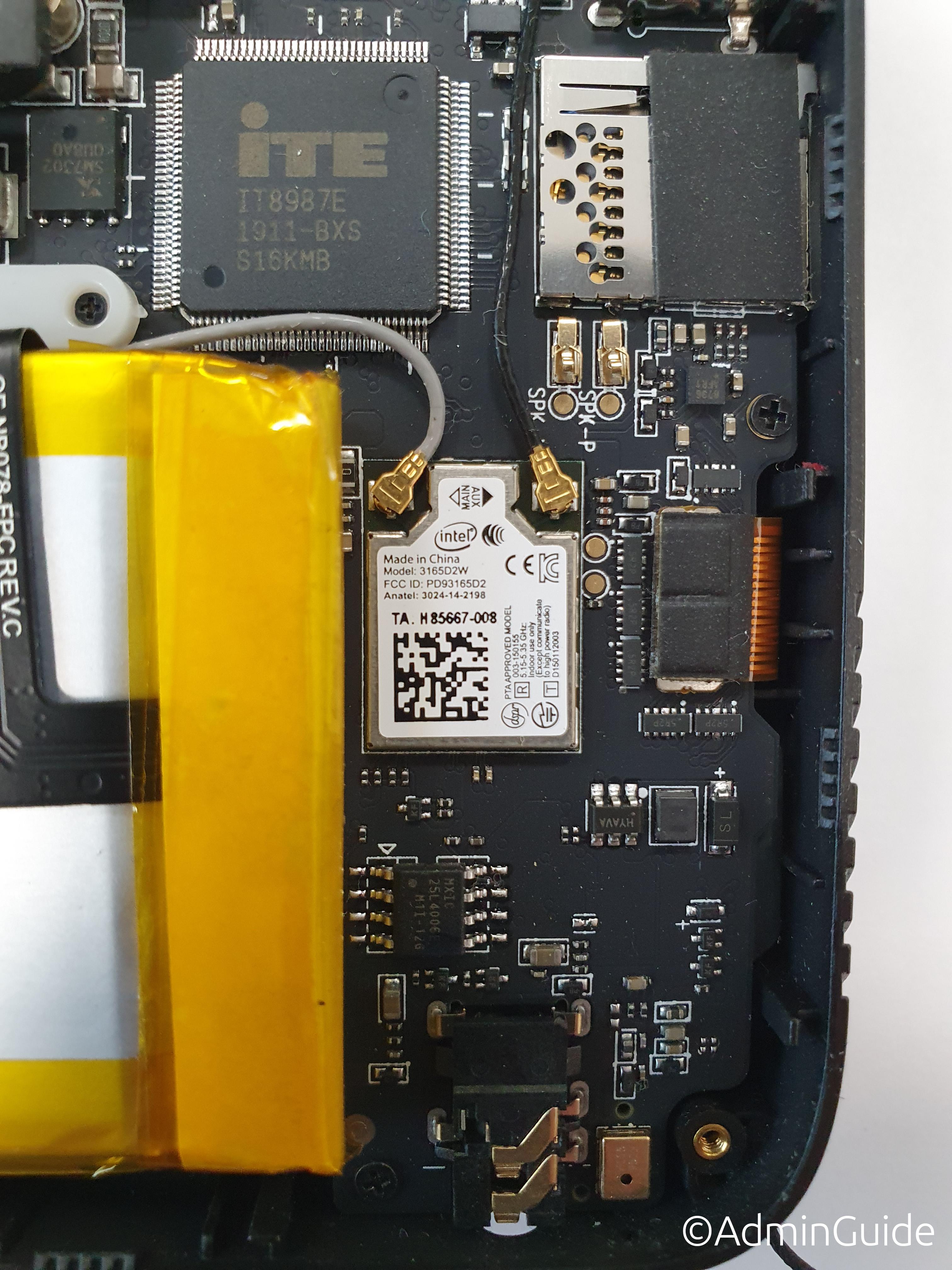 Сисадминский ноут GPD MicroPC - Wi-Fi модуль