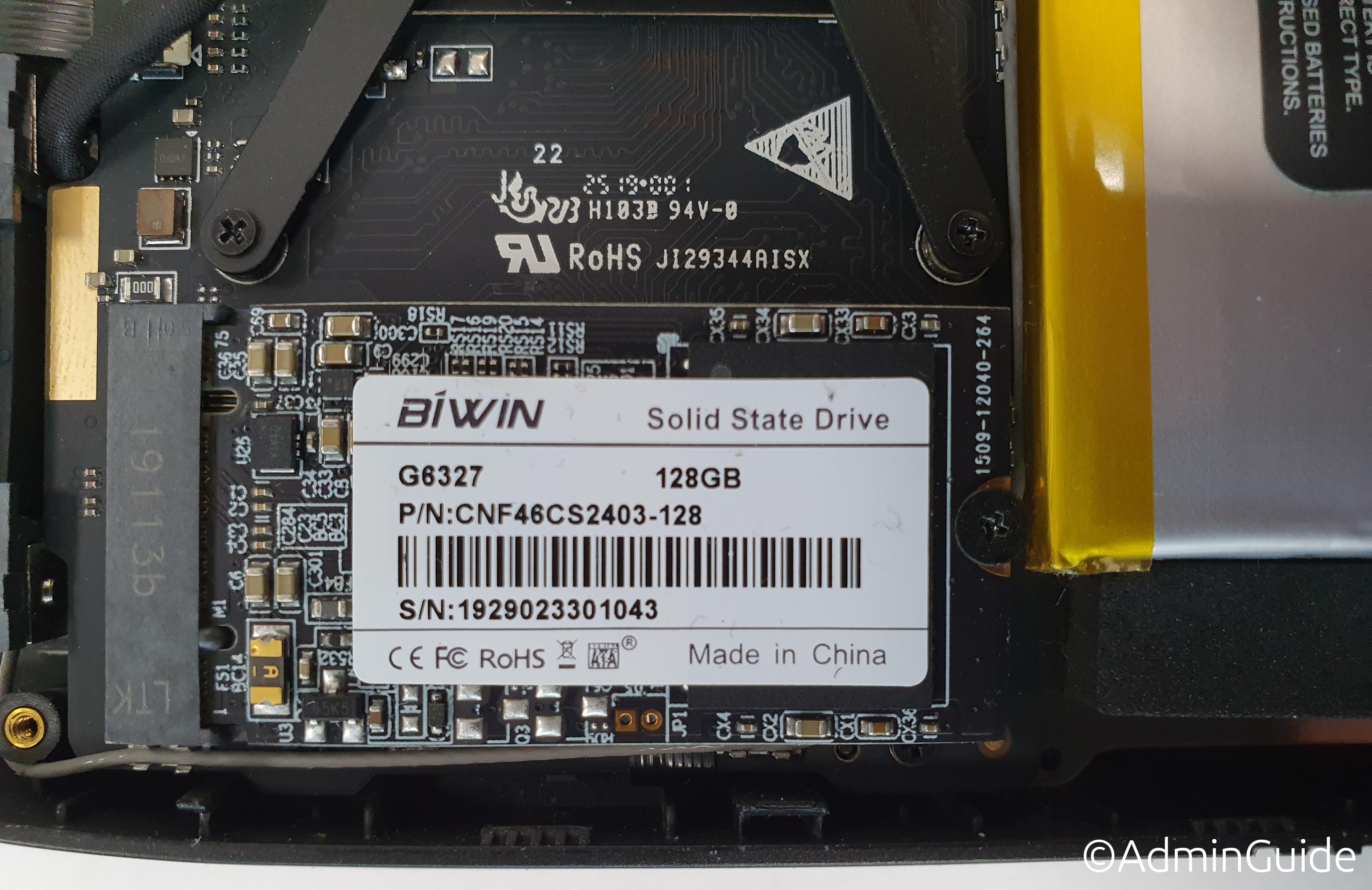 Сисадминский ноут GPD MicroPC - M.2 SATA SSD