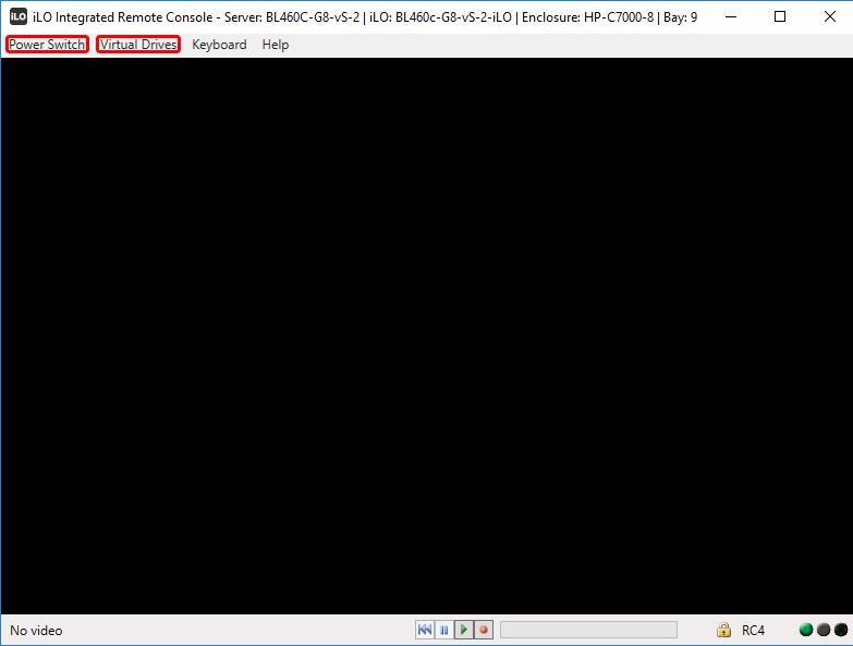 Удаленная консоль iLO для управления сервером