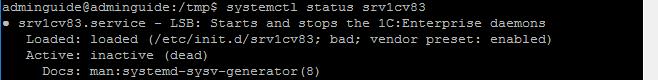 Linux Сервер 1С 8.3 сразу после установки
