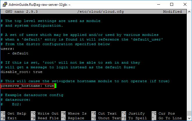 Ubuntu 18.04 LTS - preserve_hostname